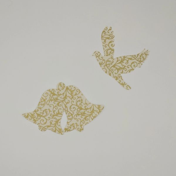 Bell and Dove, Pre-Fused and Laser Cut Applique