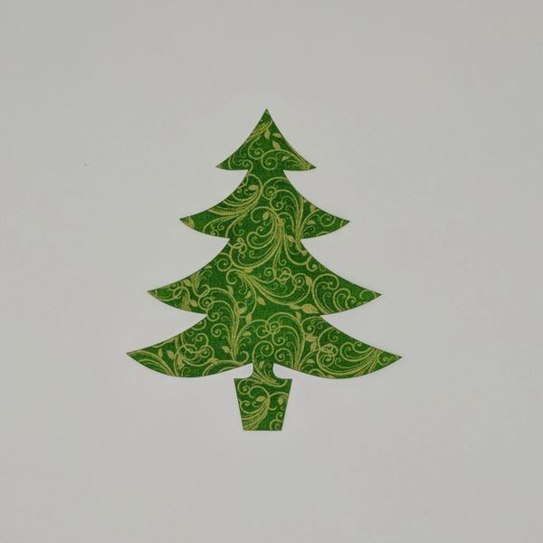 Christmas Tree, Laser Cut and Pre-Fused Applique Embellishment