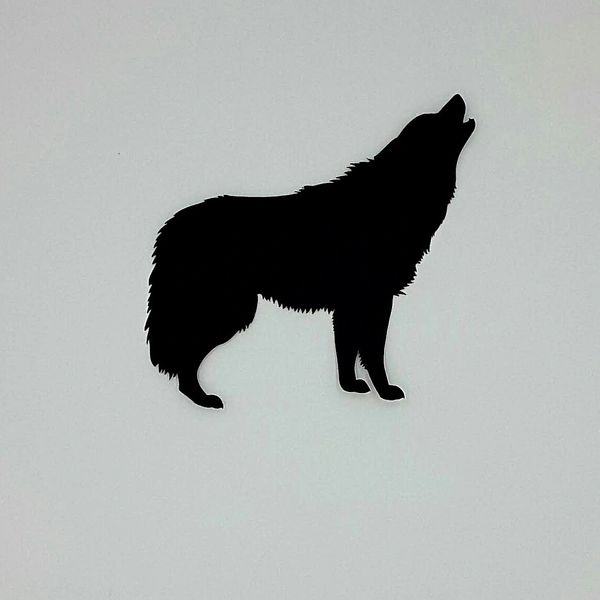 Howling Wolf, Laser Cut and Pre-fused Applique