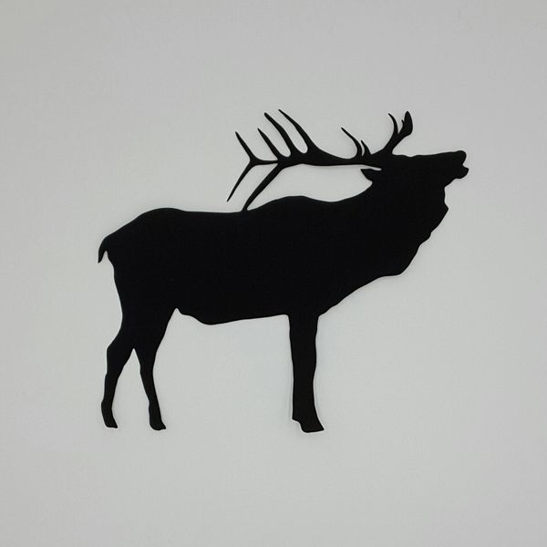 Bugling Elk, Laser Cut and Pre-fused Applique Embellishment