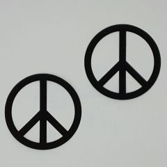 Peace Signs, Set of 2, Laser Cut and Pre-Fused