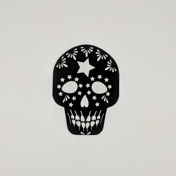 Sugar Skull, Laser cut black sugar skull