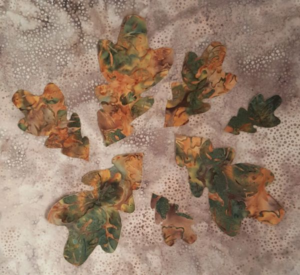 Oak Leaves, Laser Cut Applique,7 pc set