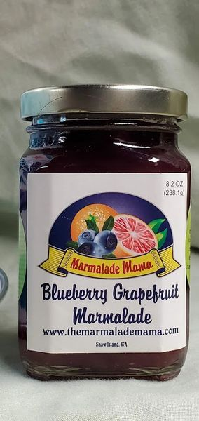 BLUEBERRY GRAPEFRUIT MARMALADE 8.2oz.