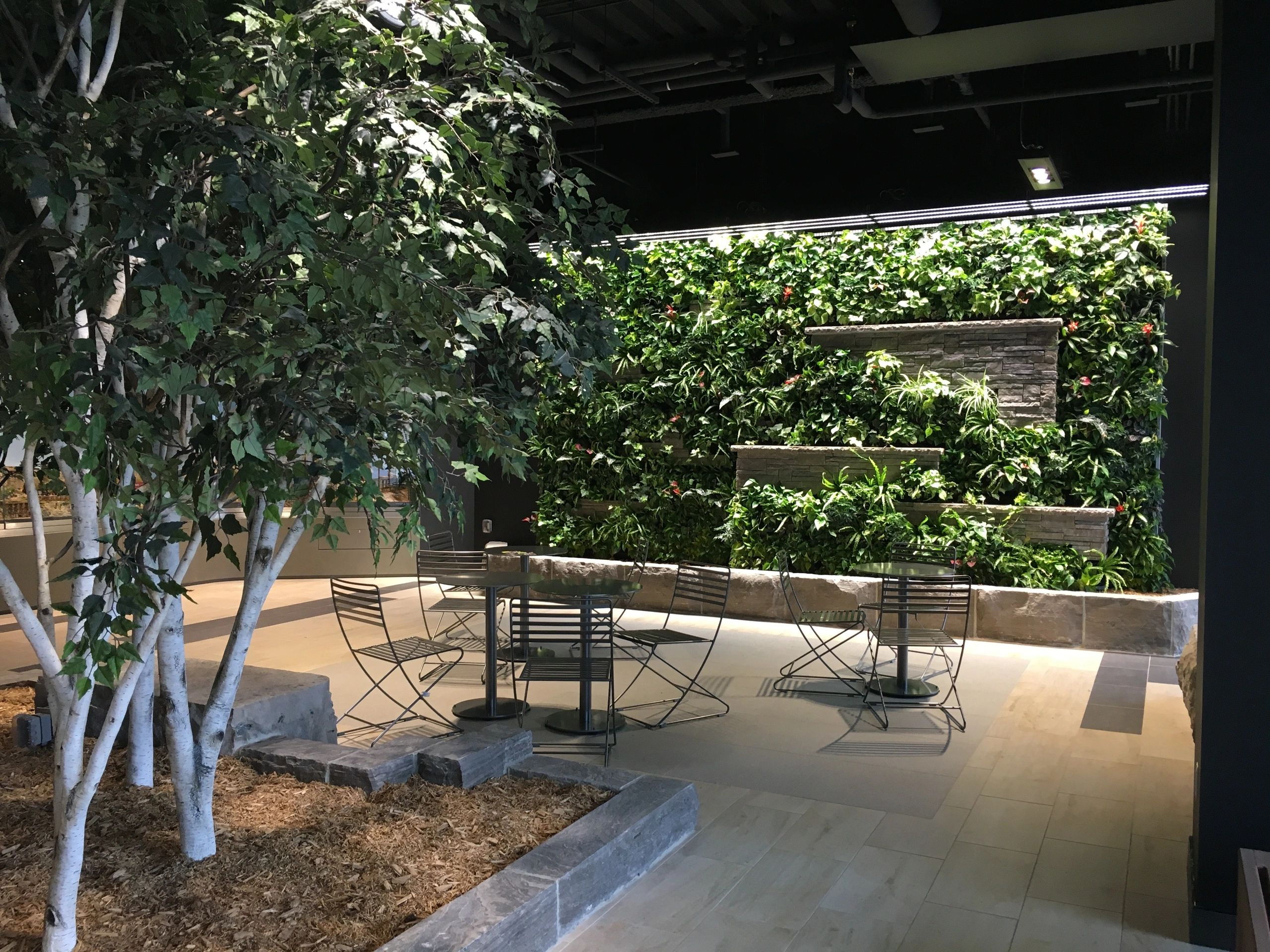 Custom Living Wall by Vertical Landscape Architects & Hollander Landscaping at McMaster University