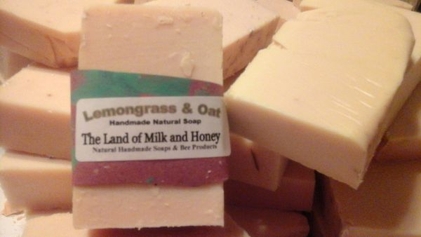 Lemongrass and Oats handmade soap