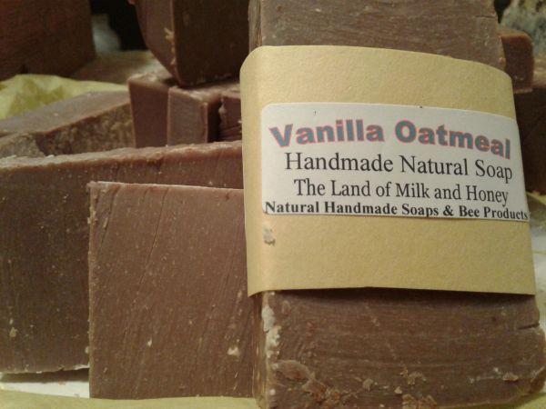 vanilla oatmeal natural handmade soap