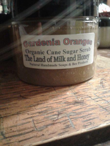 Gardenia oranges organic cane sugar scrub