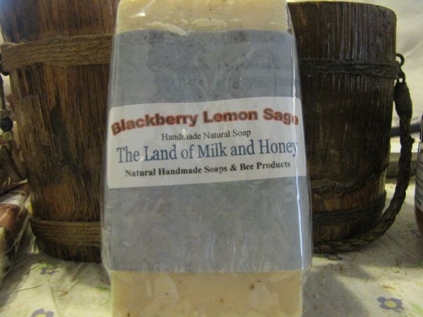 Blackberry Lemon Sage Goatmilk and Honey soap