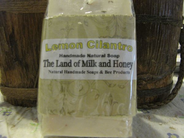 Lemon cilantro goatmilk and honey soap