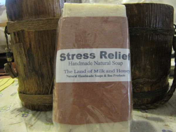 Stress Relief handmade goat milk soap