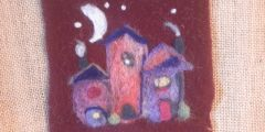 2D Needle Felting a cute village workshop