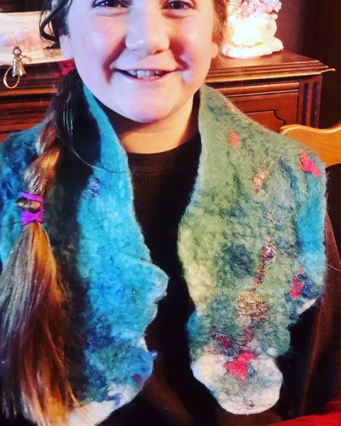 Wet Felting a scarf Kit