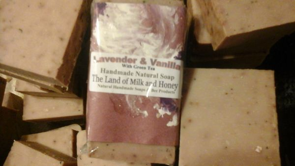 Lavender and vanilla goat milk and honey soap