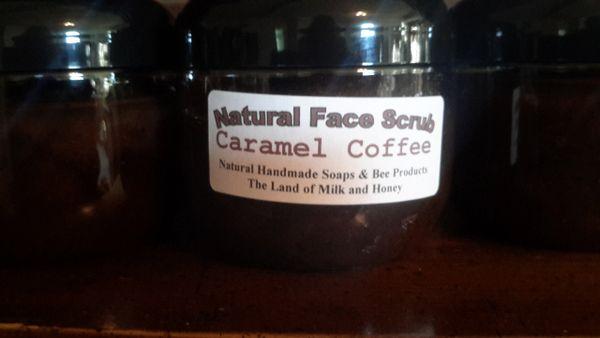 Natural face scrub....Carmel coffee