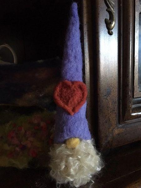 Heart essential oil diffuser handmade gnome