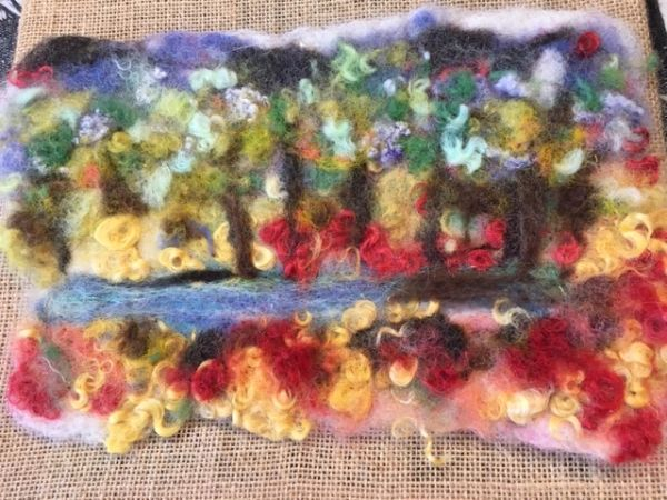 Felt Wall Hanging...little Pond