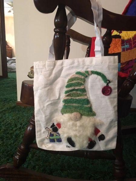 Holiday Gnome tote bag