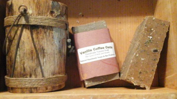 Vanilla coffee Oats handmade natural soap