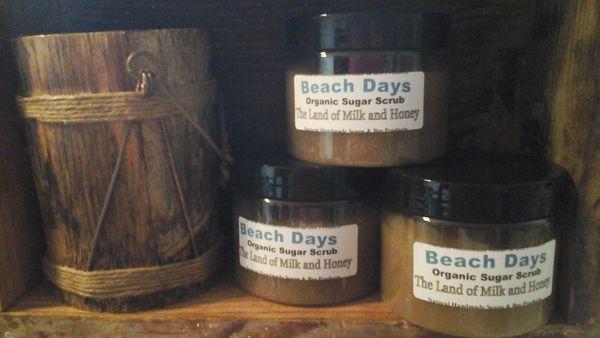 Beach Days organic cane sugar scrub