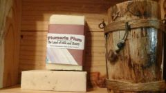 Plumeria plum goat milk and honey soap