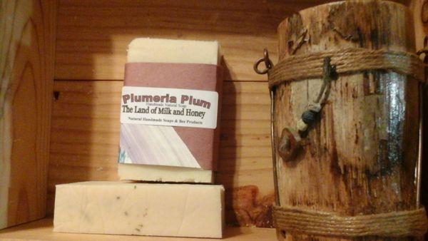 Plumeria plum goat milk and honey soap