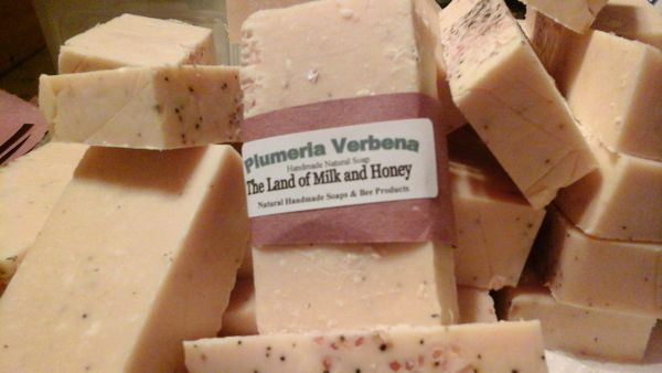 Plumeria Verbena goat milk and honey soap