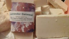 Lavender oatmeal goat milk and honey handmade soap