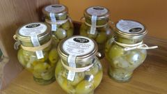 Green Chili Stuffed Olives Cordal