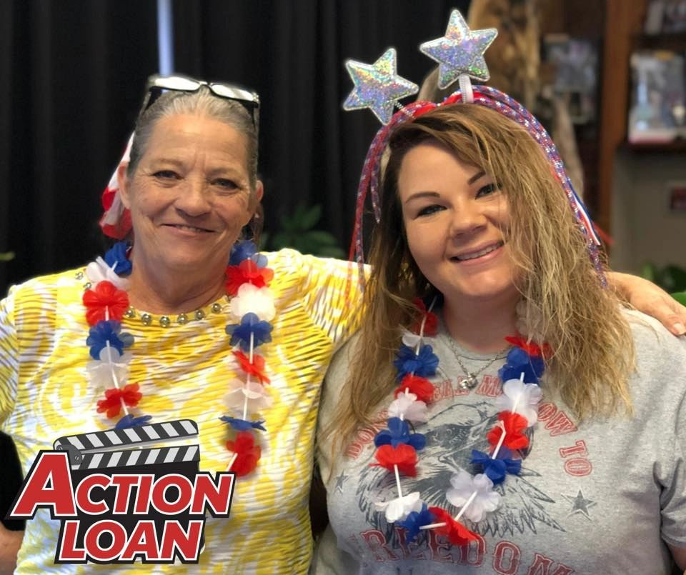 Muskogee Assistant Manager, Susan, and Tahlequah Branch Manager, Kelsei, smile at our July cookout.