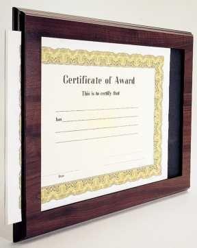 Slide-In Certificate Plaques