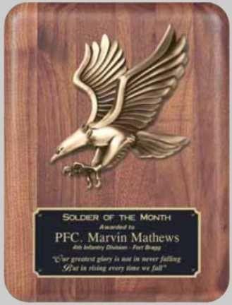 Walnut Eagle Plaques