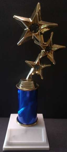 "Triple Star 3"" Column Trophy"