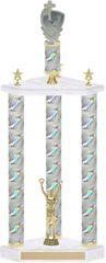 Large 3 Column Trophy