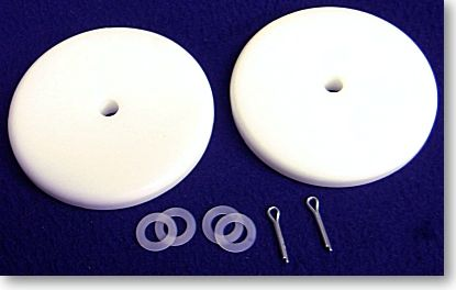 "WHEEL KIT 4"" - DYNAMO OR TITAN MODELS - Two 4"" diameter wheels, cotter pins and washers"