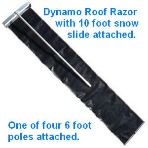 ROOF RAZOR® DYNAMO MODEL - 2 FOOT WIDTH (comes with four 6 foot pole sections - 24 feet total)
