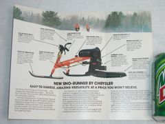 Snorunner Brochure Original Rare with dealer stamp on cover