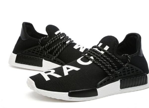 usine authentique c04f0 2c2b9 Adidas X Pharrell Williams NMD HU Human Race Black/White Athlete Running  Sneakers