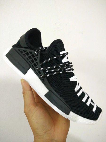 factory authentic ebfc8 55007 Adidas X Pharrell Williams NMD HU Human Race Black/White Athlete Running  Sneakers