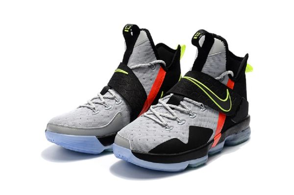 new style 7e504 dfd89 2018 Nike ,Lebron James '14' Grey/Black 'NBA' Basketball Sneakers