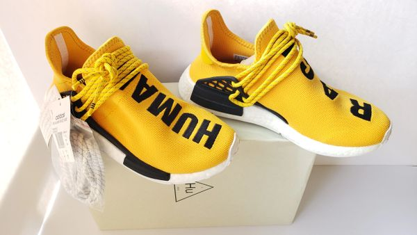 the latest ea17c 9feb7 Adidas NMD HU Pharrell Human Race Yellow Sneakers BB0619