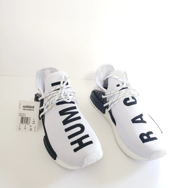 finest selection af7de 6515f Adidas, X Pharrell Williams NMD HU,Human Race, white Running athlete  Sneakers