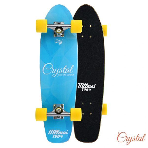 LMAI 27 Bamboo Wood Cruiser Complete Skateboard Longboard