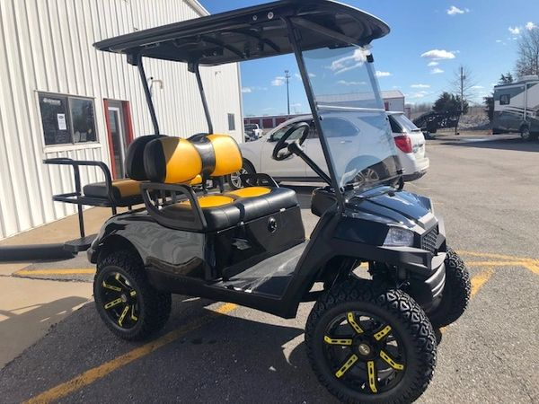 Used Electric Yamaha Golf Cart - Black and Gold