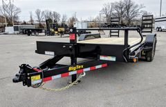 Big Tex 14ET-18BK-KR TANDEM AXLE EQUIPMENT HAULER (14,000LB GVWR) W/STAND-UP RAMPS