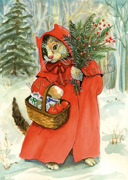 Little Red Riding Cat - 12-card set