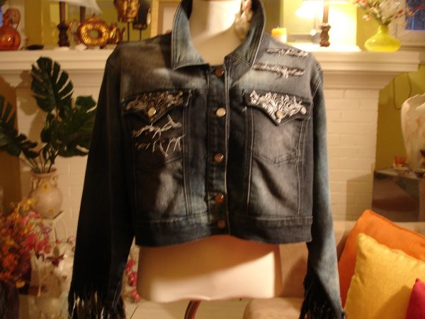 """Dressed to be Distressed"" Dark Denim Jacket 2"