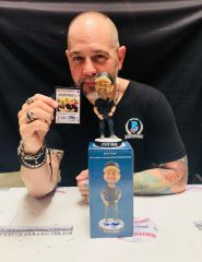 Steve Grad Autographed Limited Edition Bobble Head + BONUS Auto Card - Proceeds Benefiting Ryan's Warriors