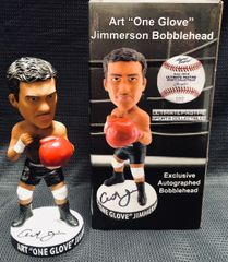"Art ""One Glove"" Jimmerson Ultimate Pastime EXCLUSIVE Autographed Bobblehead"