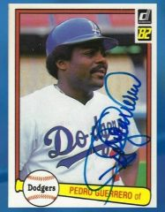 Pedro Guerrero Inscription (Autograph + Photo OP SOLD separately) November 16th, 2019